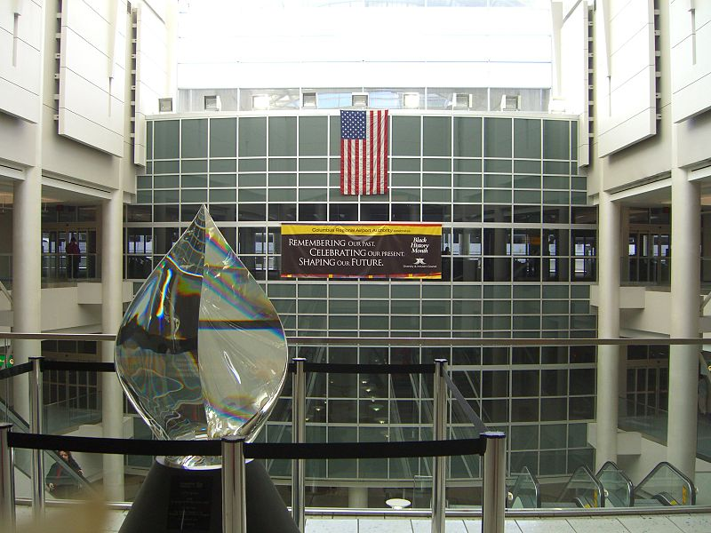 The Columbus airport has one terminal with three airport concourses.